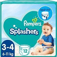 Plenkové plavky PAMPERS Splashers vel. 3/4 (6–11 kg) 12 ks