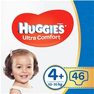 HUGGIES Ultra Comfort Jumbo Size 4+ (46 pcs) - Baby Nappies