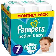 PAMPERS Active Baby Size 7 (112 pcs) - Monthly Pack - Baby Nappies