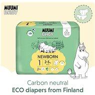MUUMI BABY Newborn vel. 1 - měsíční balení EKO plen (75 ks) - Dětské pleny