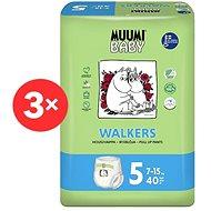 MUUMI BABY Walkers  Maxi + vel. 5 - měsíční balení EKO plenkových kalhotek (120 ks) - Plenkové kalhotky