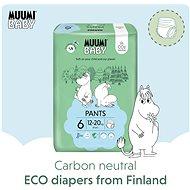 MUUMI BABY Walkers Junior vel. 6 - měsíční balení EKO plenkových kalhotek (108 ks) - Eko plenkové kalhotky