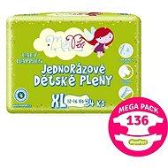 MonPeri Klasik Mega Pack vel. XL (136 ks) - Dětské pleny