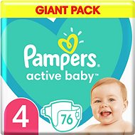 PAMPERS Active Baby vel. 4 (76 ks) 9–14 kg