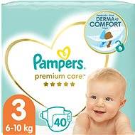 PAMPERS Premium Care, vel.  3 (40 ks) - Dětské pleny