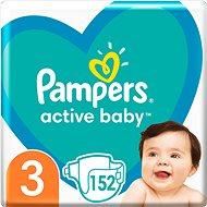 PAMPERS Active Baby vel.  3 (152 ks) - měsíční balení - Dětské pleny
