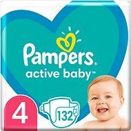 PAMPERS Active Baby vel.  4 (132 ks) - měsíční balení - Dětské pleny