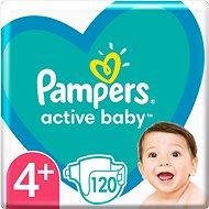 PAMPERS Active Baby vel.  4+ (120 ks) - měsíční balení - Dětské pleny