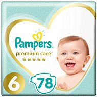 PAMPERS Premium Care Size 6 (78 Pcs) - Baby Nappies