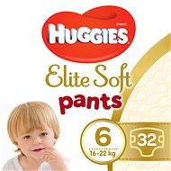 HUGGIES Elite Soft Pants XXL vel. 6  Mega Box (32 ks) - Plenkové kalhotky