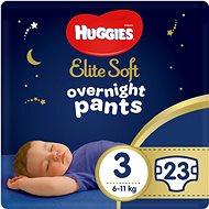 HUGGIES Elite Soft Pants přes noc Pants vel. 3 (23 ks) - Plenkové kalhotky