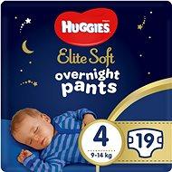 HUGGIES Elite Soft Pants přes noc Pants vel. 4 (19 ks) - Plenkové kalhotky