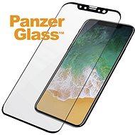 PanzerGlass pro Apple iPhone X, Černé Case friendly - Ochranné sklo