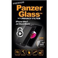 PanzerGlass Premium Privacy pro Apple iPhone 6/6s/7/8 černé - Ochranné sklo