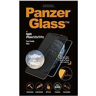 PanzerGlass Edge-to-Edge Privacy pro Apple iPhone X/XS/11 Pro černé s CamSlider - Ochranné sklo