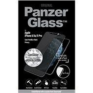 PanzerGlass Edge-to-Edge Privacy pro iPhone X/Xs/11 Pro černé Swarovski CamSlider - Ochranné sklo