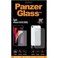 PanzerGlass Edge-to-Edge Bundle pro Apple iPhone 7/8/SE (2020) černé (sklo + čirý TPU obal) - Ochranné sklo