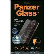 PanzerGlass Edge-to-Edge Antibacterial pro Apple iPhone 12/12 Pro černé s Anti-BlueLight vrstvou - Ochranné sklo