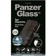PanzerGlass Edge-to-Edge Privacy Antibacterial for Apple iPhone 12/12 Pro černé se Swarowski CamSlid - Glass protector