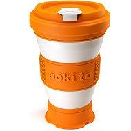 Pokito Skládací šálek na kávu 3v1 dýňový - Hrnek