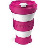 POKITO Skládací šálek na kávu 3v1 malinový - Hrnek