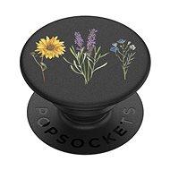 PopSockets PopGrip Gen.2, Vintage Garden Black, květiny na černém podkladu - Držák na mobilní telefon