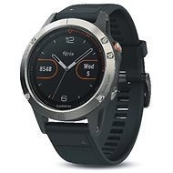 Garmin Fenix 5 Silver Optic Black band