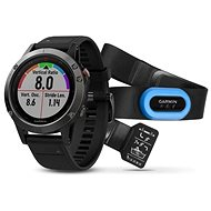 Garmin Fenix 5 Gray Optic TRI Performer Black band - Chytré hodinky