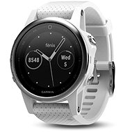 Garmin Fenix 5S - Silver Optic White Band - Smartwatch
