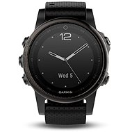 Garmin Fenix 5S Sapphire Grey Optic Black band - Smartwatch