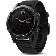Garmin Fenix 5 Sapphire Black Optic Black band - Chytré hodinky