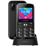 MyPhone Halo C Senior Black - Mobile Phone