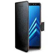 CELLY WALLY pro Samsung Galaxy A8 Plus (2018) černé - Pouzdro na mobilní telefon