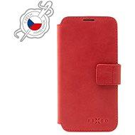 FIXED ProFit z pravé hovězí kůže pro Samsung Galaxy S21 červené