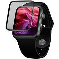 FIXED 3D Full-Cover s aplikátorem pro Apple Watch 44mm černé - Ochranné sklo