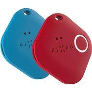 Bluetooth lokalizační čip FIXED Smile PRO Duo Pack - modrý + červený