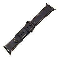 FIXED Berkeley pro Apple Watch 42 mm a 44 mm s černou sponou, velikost L uhlově černý - Řemínek