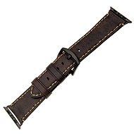 FIXED Berkeley pro Apple Watch 42 mm a 44 mm s černou sponou velikost L uhlově hnědý
