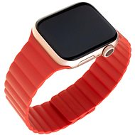 FIXED Silicone Magnetic Strap pro Apple Watch 42 mm/44 mm červený