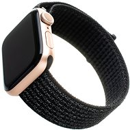 FIXED Nylon Strap for Apple Watch 44mm / Watch 42mm Reflective Black