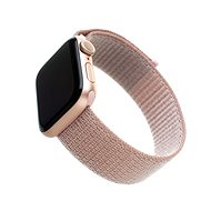 FIXED Nylon Strap pro Apple Watch 40mm/ Watch 38mm růžově zlatý - Řemínek