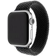 FIXED Elastic Nylon Strap pro Apple Watch 42/44mm velikost L černý - Řemínek