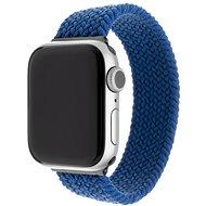 FIXED Elastic Nylon Strap pro Apple Watch 42/44mm velikost L modrý - Řemínek