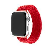 FIXED Elastic Nylon Strap pro Apple Watch 42/44mm velikost L červený - Řemínek