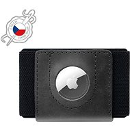 FIXED Tiny Wallet for AirTag z pravé hovězí kůže černá - Peněženka