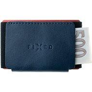 FIXED Tiny Wallet z pravé hovězí kůže modrá