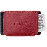 FIXED Tiny Wallet z pravé hovězí kůže červená