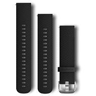 Garmin Quick Release 20 silikonový černý (stříbrná přezka) - Řemínek