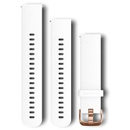 Garmin Quick Release 20 silikonový bílý (růžovo zlatá přezka) - Řemínek
