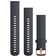 Garmin Quick Release Band (20 mm), dark blue, rosegold buckle - Watch band
